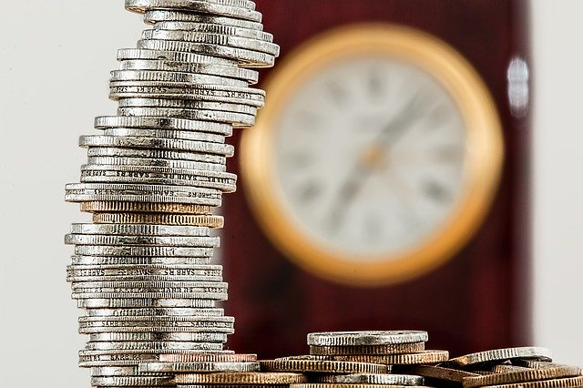 Aufgestapelte Münzen
